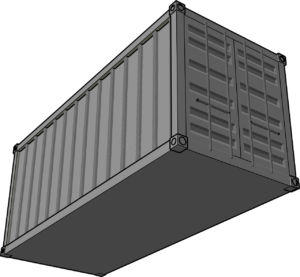 Shipping Container cCartoon